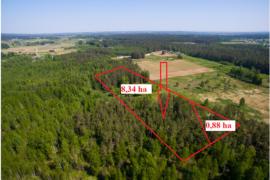 9.22 ha miško ir kitos paskirties sklypa prie Trakų