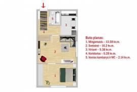 2 kamb.butas renovuotame name, M.Riomerio