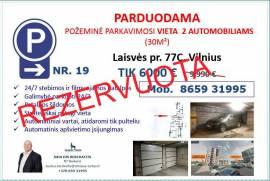 PARDUODAMA PARKAVIMO  VIETA  2  AUTOMOBILIAMS