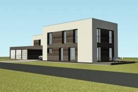 Sklypas su pamatais, statybos leidimu ir projektu dvibučiam gyvenamajam namui, Juodelių